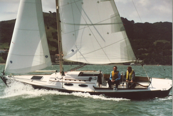 Kirk and Long Time Crew, Bill Dawson take Dream for her FIrst Sail